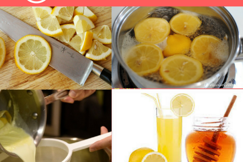 Boiling Lemons for Lemon Water Recipe